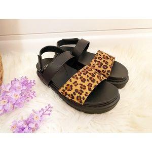 NEW Daisy Fuentes Leopard Black Platform Sandals